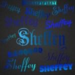 Sheffey Fonts - Shades of Blue and Black 040