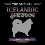 The original Icelandic Sheepdog, dark clothing