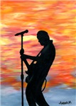 MUSICAL - ROCK GUITARIST AT SUNSET