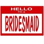 Bridesmaid Nametag (red)