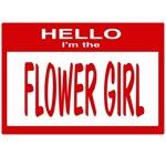 Flower Girl Nametag (red)