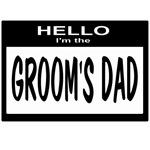Grooms Dad Nametag (black)