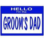 Grooms Dad Nametag (blue)