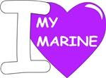 Purple - I Love My Marine Design