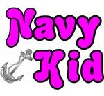 Navy Kid - Pink