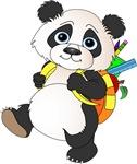 Panda Bear with backpack