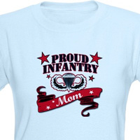 Proud Infantry Mom (red)