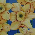 Ladybug and Daffodills