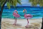 Romantic Pink Flamingos