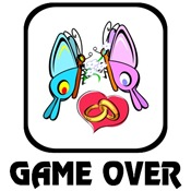 Hearts-A-Flutter: Game Over