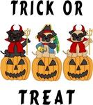 Halloween Trick or Treat Pugs