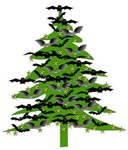 Christmas Bat Tree