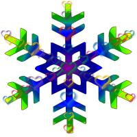 Blue and Green Bubble Snowflake
