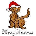 Striped Christmas Kitty