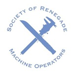 Renegade Machine Operator with Calipers and Knife