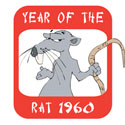 Year of The Rat 1960 T-Shirt & Gifts
