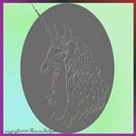 Embossed Effect<br> Unicorn Head