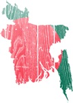 Bangladesh Flag And Map