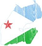 Djibouti Flag And Map