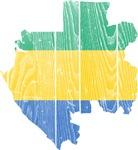 Gabon Flag And Map