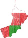 Oman Flag And Map