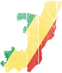 Republic Of The Congo Flag And Map