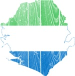 Sierra Leone Flag And Map