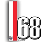 68 Red White