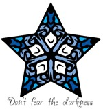 Blue Stained Glass Star