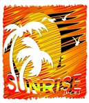 summer sunrise art illustration