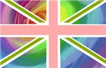 Rainbow Union Jack Flag