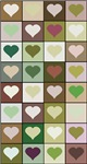 Army colors hearts pattern