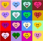 Colorful Smiley Hearts