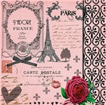 Vintage Pink Paris Collage
