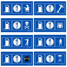 Gas / Food Signs
