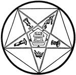 Order of the Eastern Star (black/white)