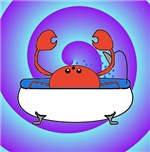 Crab in Tub (Swirls)