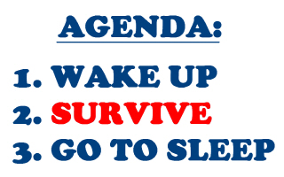 AGENDA TO SURVIVE