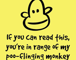 Poo-Flinging Monkey