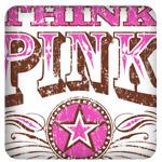 Breast Cancer Awareness Think Pink Ribbon Design