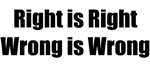 Right is Right...