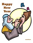 Shofar Jewish New Year Cards