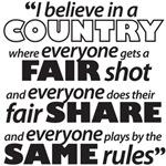 Fair Shot, Fair Share, Same Rules