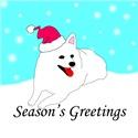 American Eskimo Dog Santa