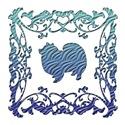 American Eskimo Blue Ornamental Lattice