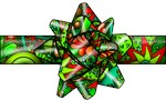 Red and Green Paisley Bow!
