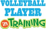 Volleyball Player In Training Kids T-shirts