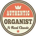 Authentic Organist vintage logo music gifts
