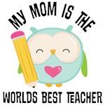 Mom Worlds Best Teacher kids tees