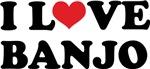 I Love Banjo Hoodies, T-shirts & Gifts